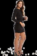 ELENA DRESS in colour CAVIAR
