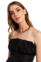 DISSAPEARING CHOKER in colour GOLD EARTH