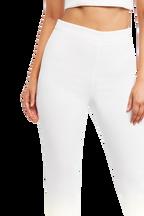 ZALIA SLIM PANT in colour SNOW WHITE