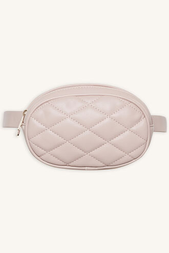 QUILTED BELT BAG in colour VEILED ROSE