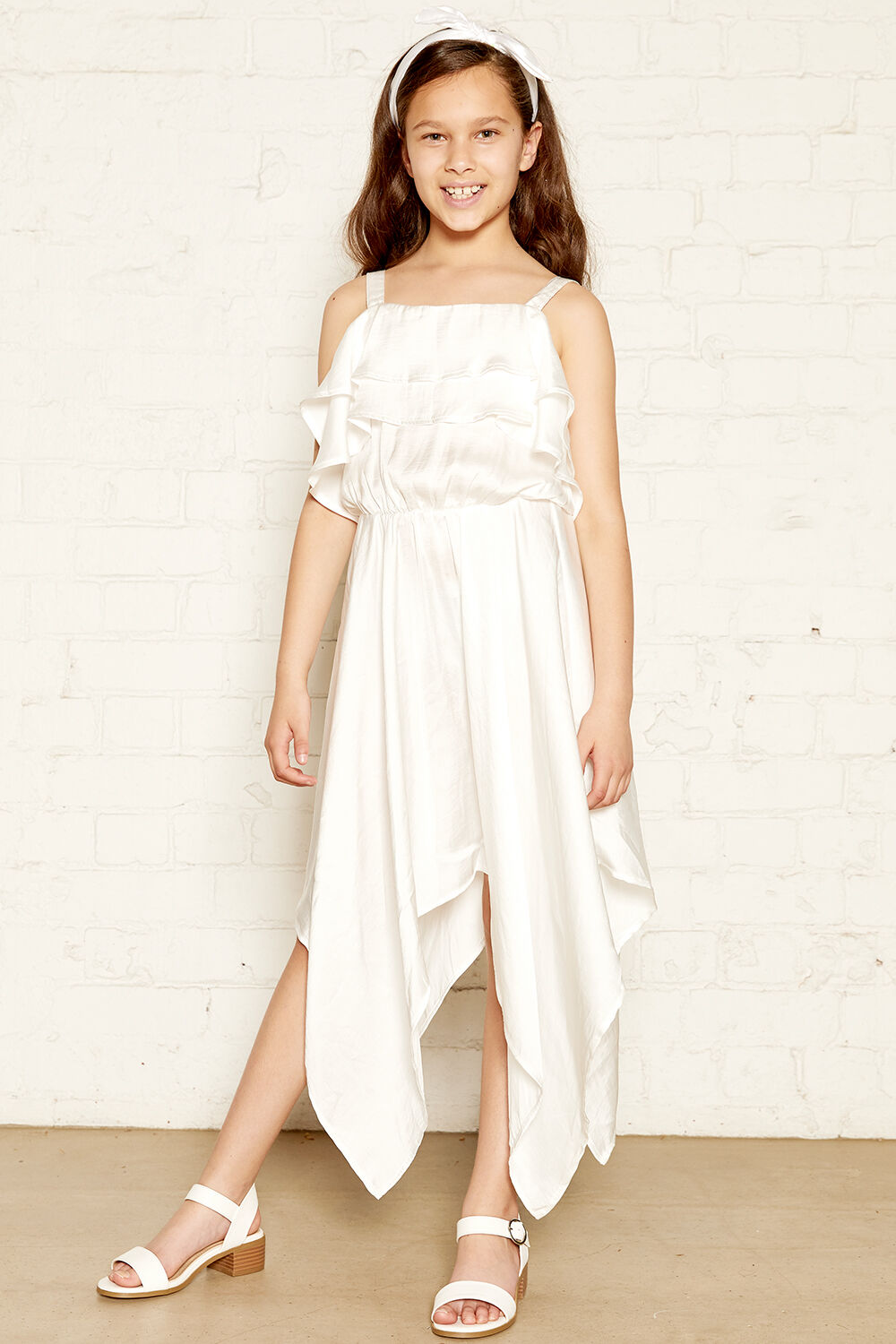 Addy Hanky Dress in colour CLOUD DANCER