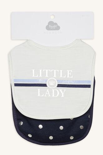 LITTLE LADY BIB SET in colour BLACK IRIS