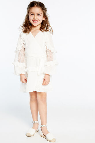 MIMI DOBBY DRESS in colour CLOUD DANCER