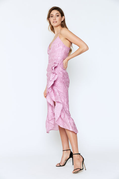 EMMALINE DRESS in colour LILAC SNOW