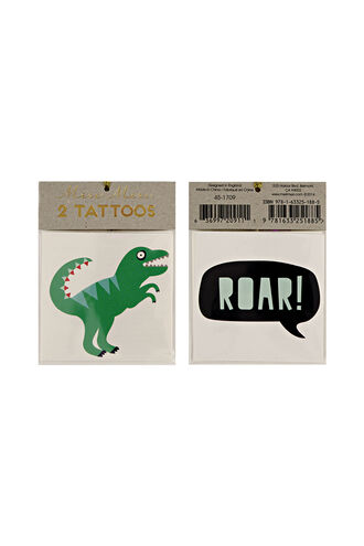 Tattoos – Dinosaurs in colour BRIGHT WHITE
