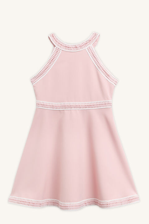 ELIZE HALTER DRESS in colour SILVER PEONY