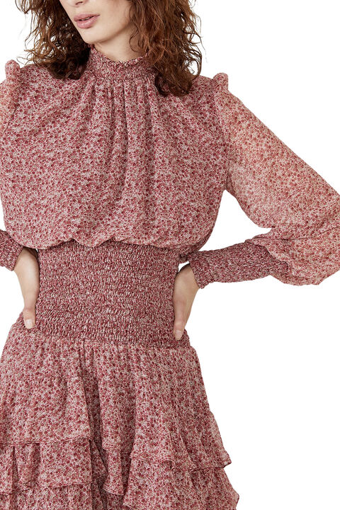 GEORGETTE SOFT FLORAL DRESS  in colour WHISPER PINK