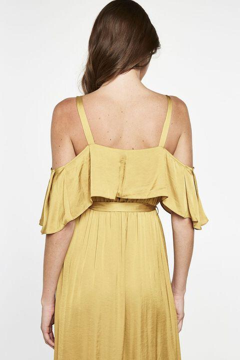 BEA WRAP DRESS in colour PALE GOLD