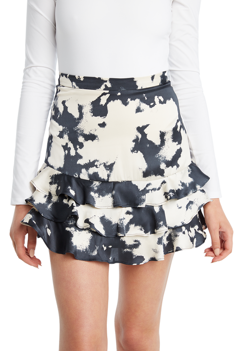 TIE DYE RAH RAH SKIRT in colour MOOD INDIGO