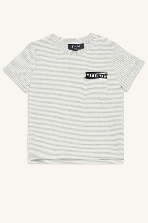 BRKLYN TEE in colour DRIZZLE