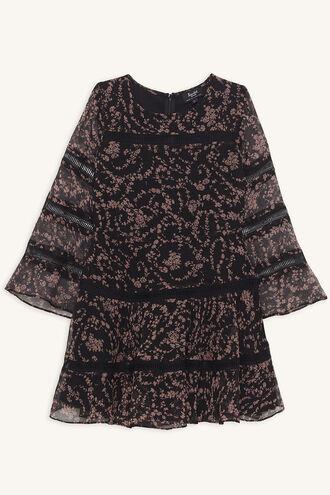 POPPY TRIM DRESS in colour CAVIAR