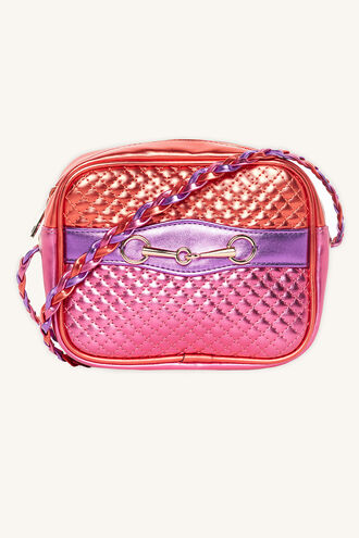 TWO TONE QUILTED BAG in colour PINK CARNATION