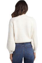 BELL SLEEVE KNIT in colour CLOUD DANCER