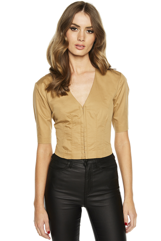 BETINA SHIRT in colour TOBACCO BROWN