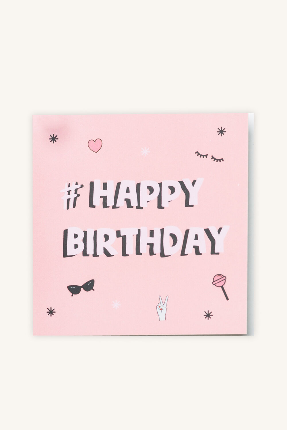 #HAPPY BIRTHDAY GIFT CARD in colour PINK CARNATION