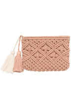DIAMOND CLUTCH in colour DUSTY PINK
