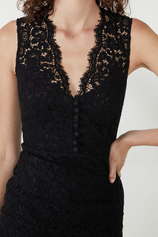MILANA LACE DRESS  in colour CAVIAR