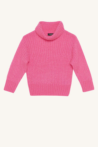 COSY NEON KNIT in colour BEETROOT PURPLE