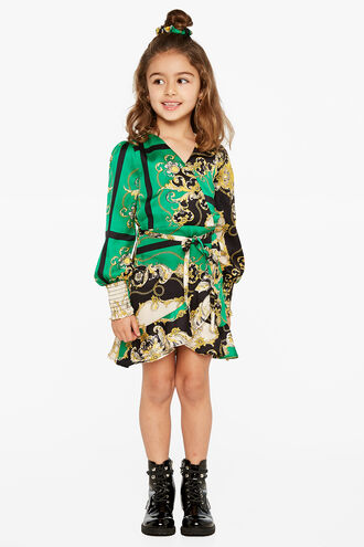MILEY WRAP DRESS in colour CLASSIC GREEN