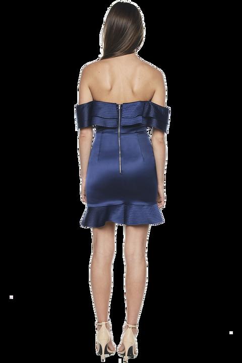 ATHENA FRILL DRESS in colour DRESS BLUES
