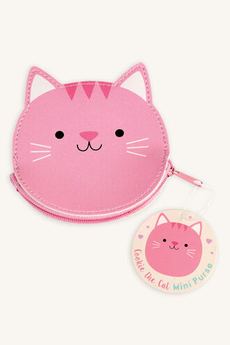 PURSE - COOKIE THE CAT in colour PINK CARNATION