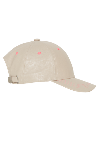 NEON STITCH CAP in colour BONE BROWN