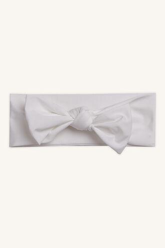 BABY STRETCH HEADBAND in colour WHITE ALYSSUM
