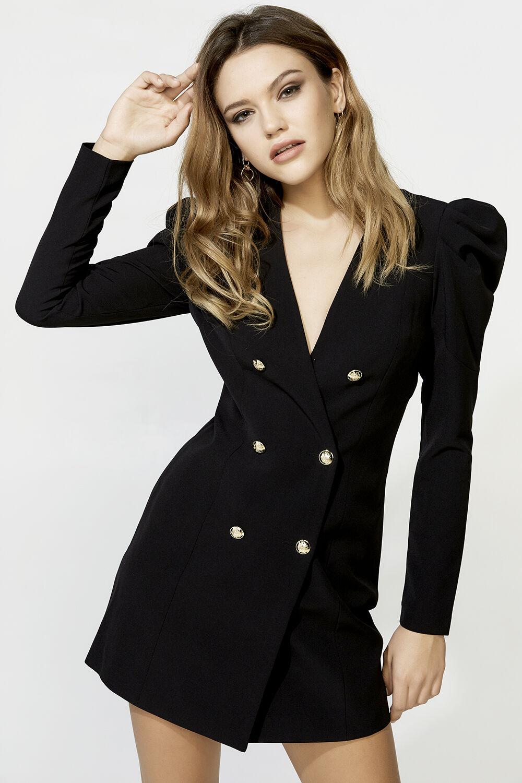BRITT BLAZER DRESS in colour CAVIAR