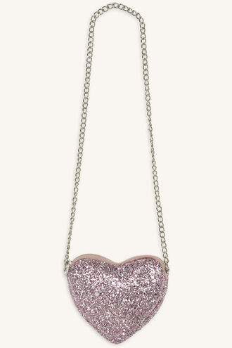GLITTER HEART BAG in colour VEILED ROSE