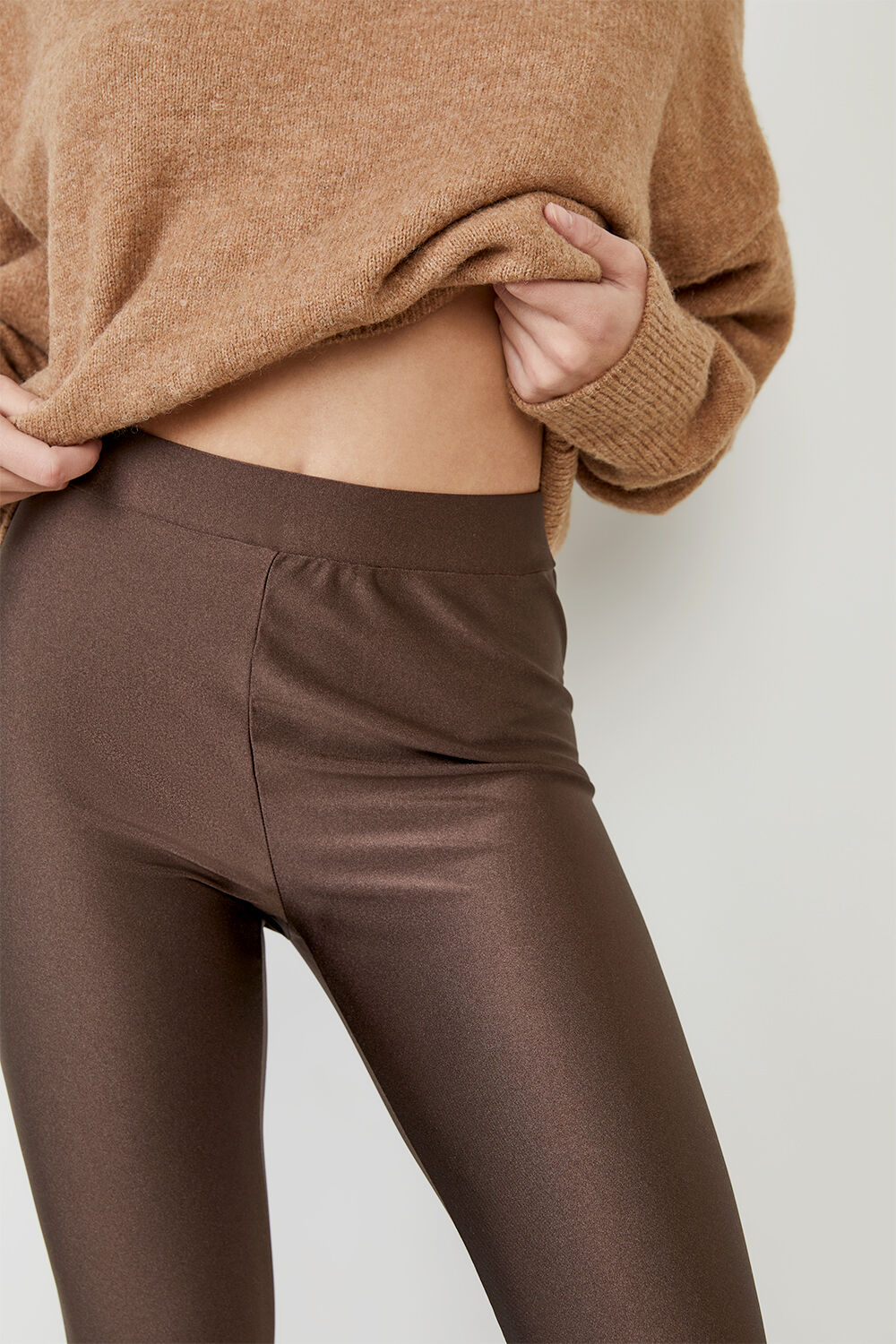 ROLLER LEGGING in colour CHOCOLATE BROWN