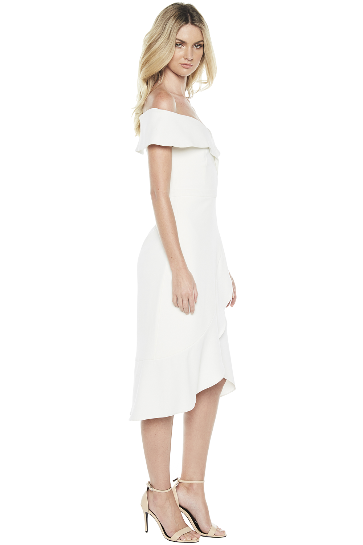 BELLA FLUTE DRESS in colour CLOUD DANCER