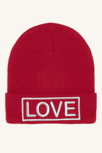 LOVE BEANIE in colour PINK CARNATION