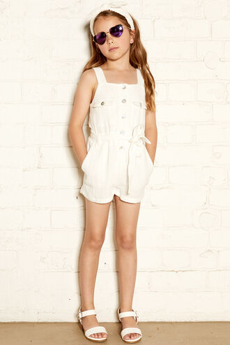 ALLIE PLAYSUIT in colour CLOUD DANCER