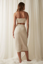 MIDI CUT OUT SKIRT in colour MOONLIGHT