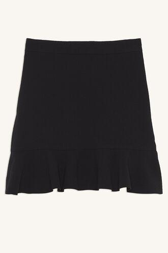 FLUTTER SKIRT in colour JET BLACK