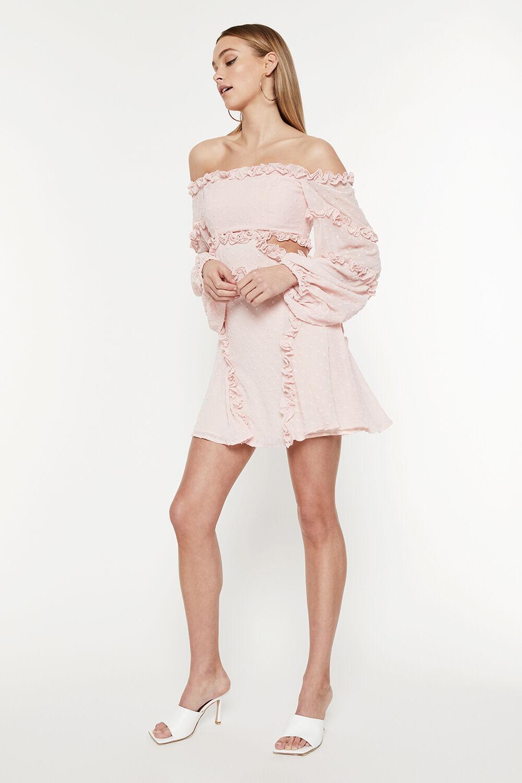 CELESTE MINI DRESS in colour HEAVENLY PINK