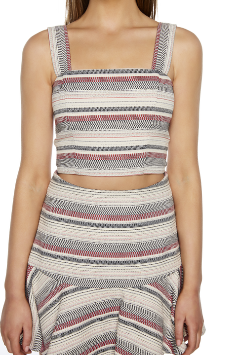 ANGIE JACQUARD TOP in colour CLOUD DANCER