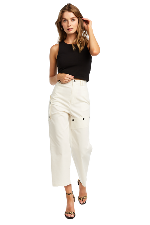 BRIA CROP TOP in colour CAVIAR