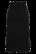 BLACK DENIM SKIRT in colour PEWTER