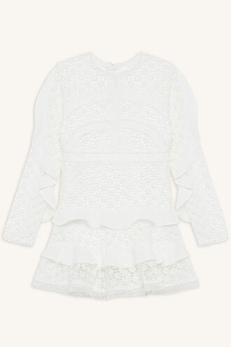 ARABELLA LACE DRESS in colour BRIGHT WHITE