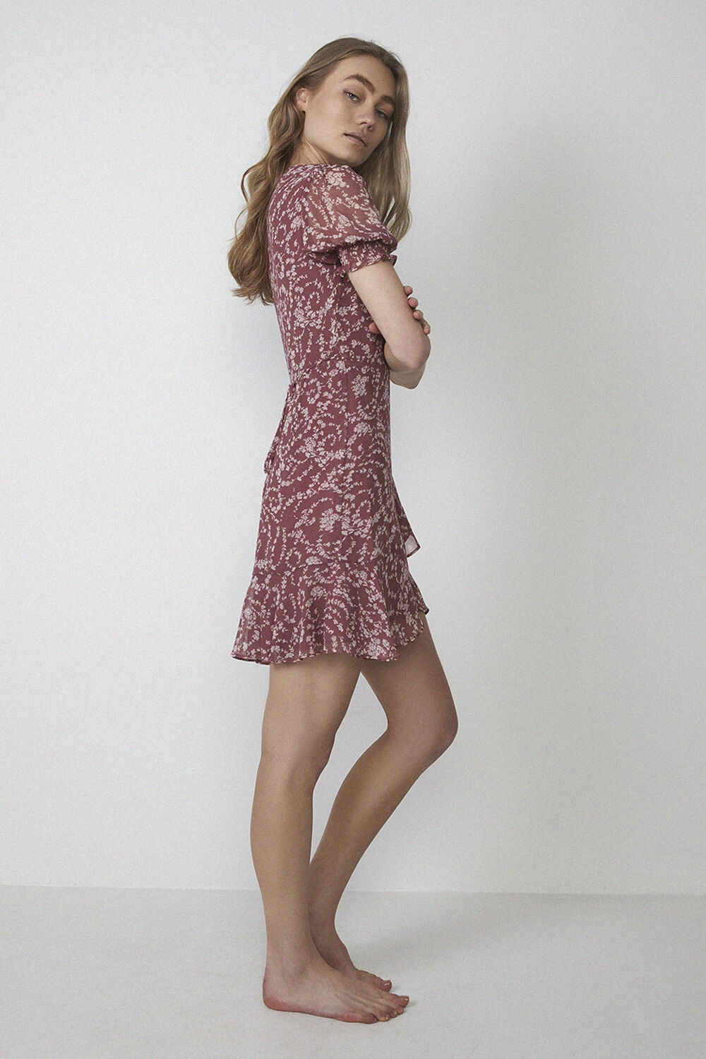 DITSY FLORAL DRESS in colour BAROQUE ROSE