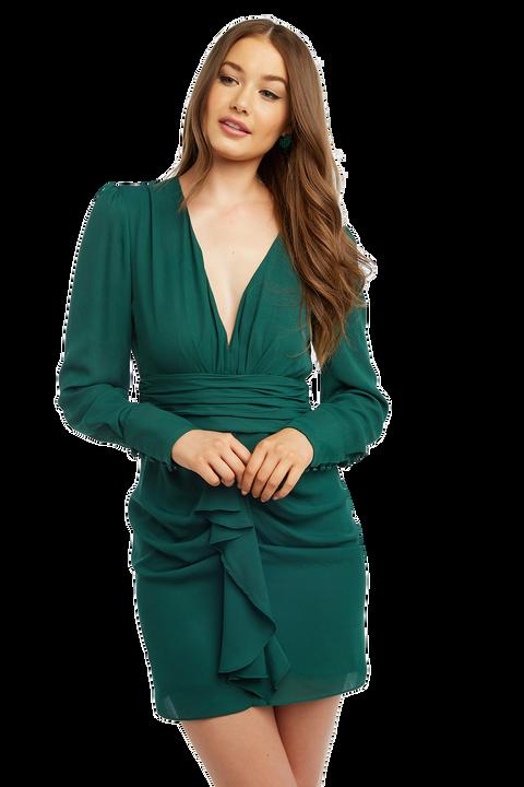 VIKTORIA DRESS in colour DARK GREEN