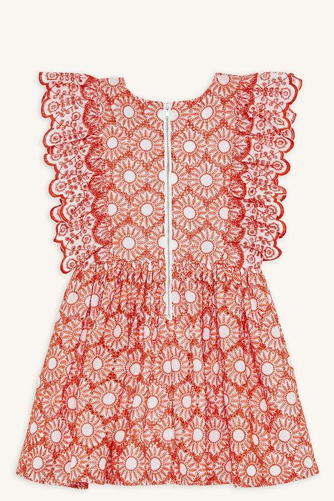 CORA DRESS in colour MANDARIN RED