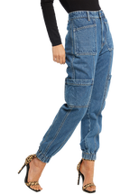TEGAN PATCH POCKET JEAN in colour TRUE NAVY