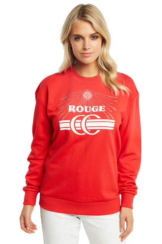 ROUGE SWEAT in colour HIGH RISK RED