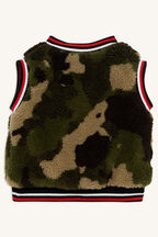 REVERSIBLE CAMO VEST in colour CAVIAR