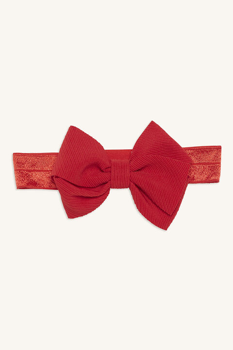 OVERSIZE BOW HEAD WRAP in colour RED BUD