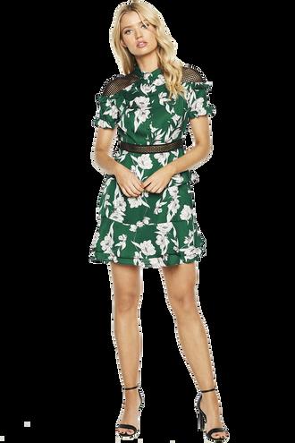 SORRENTO DRESS in colour ANTIQUE GREEN
