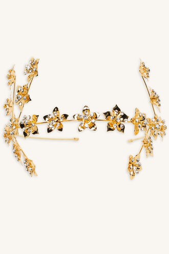 FLOWER BRANCH HEADBAND in colour GOLD EARTH
