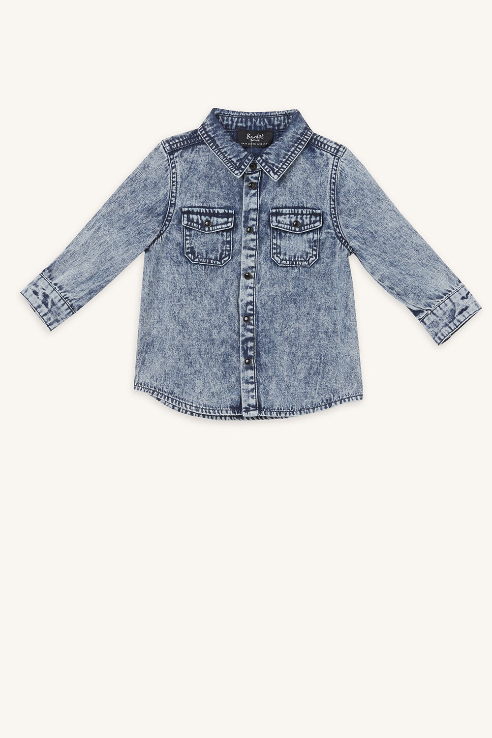 COREY DENIM SHIRT in colour BRIGHT WHITE